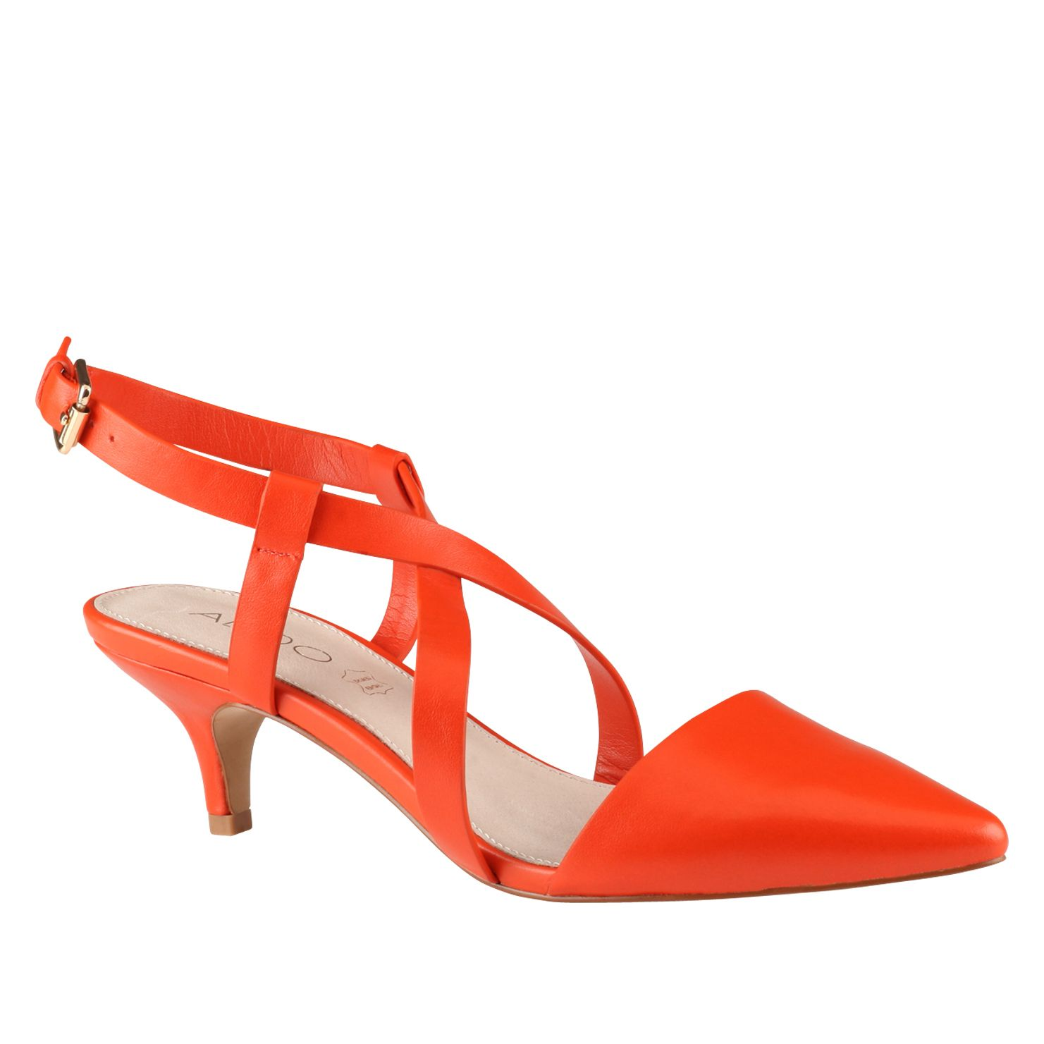 Umaniel pointed toe strap court shoes