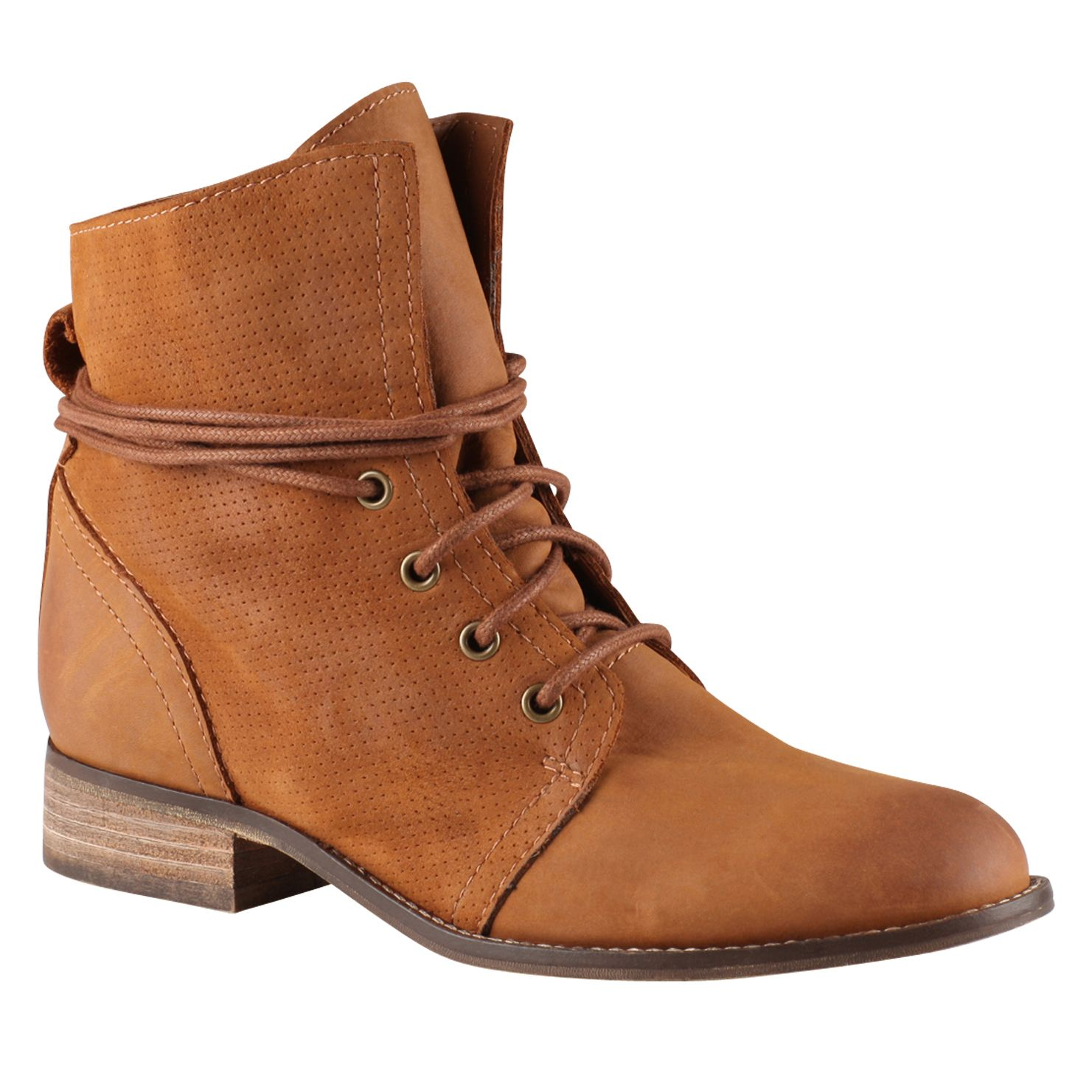 Prelidda almond toe lace up boots