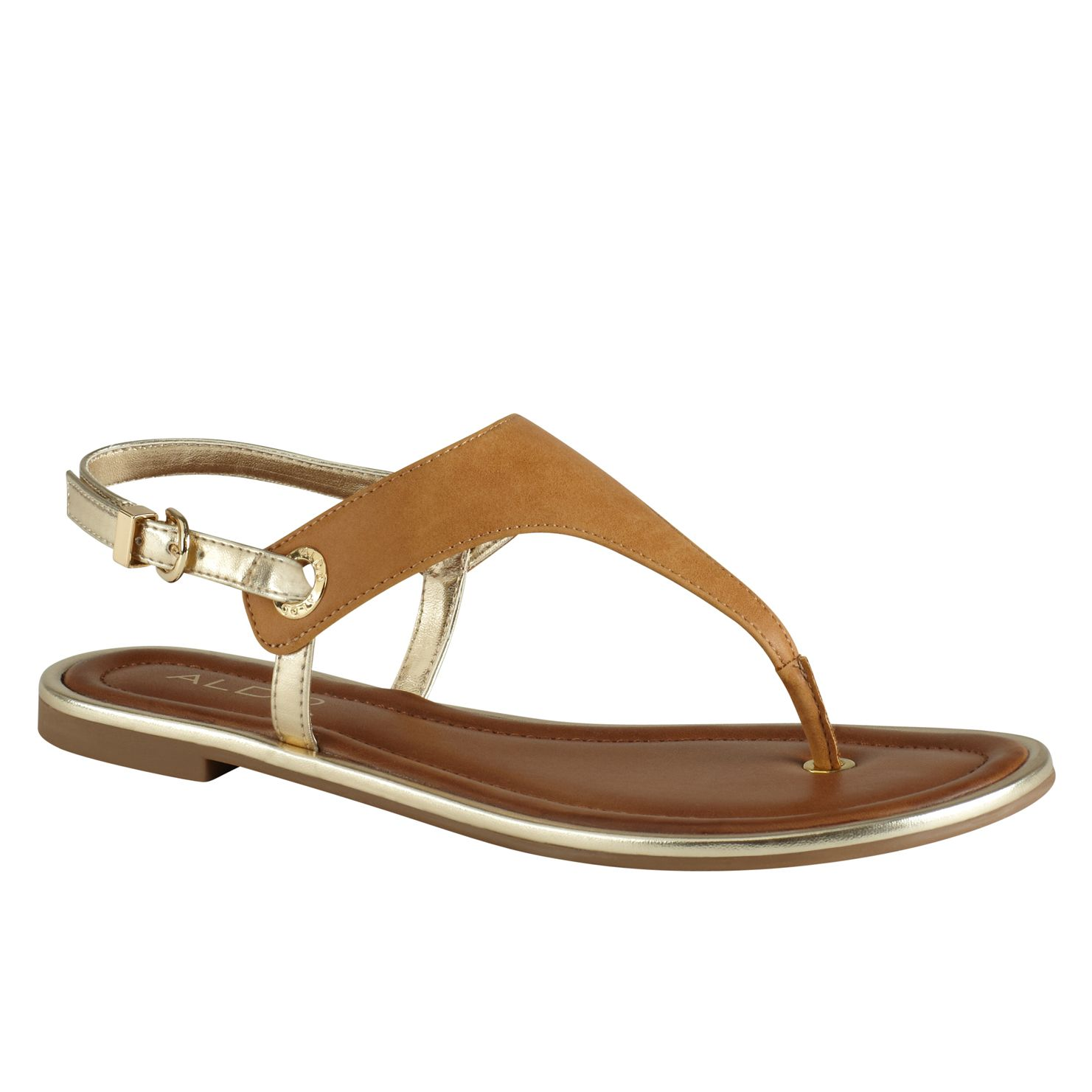 Lemacks flat t-strap sandals