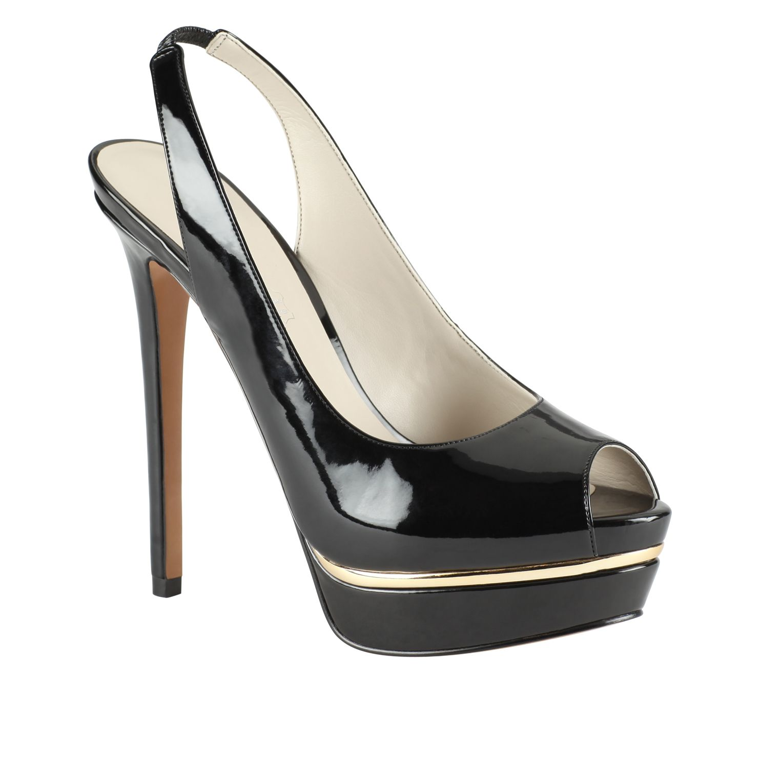 Mesiano platform peep toe court shoes