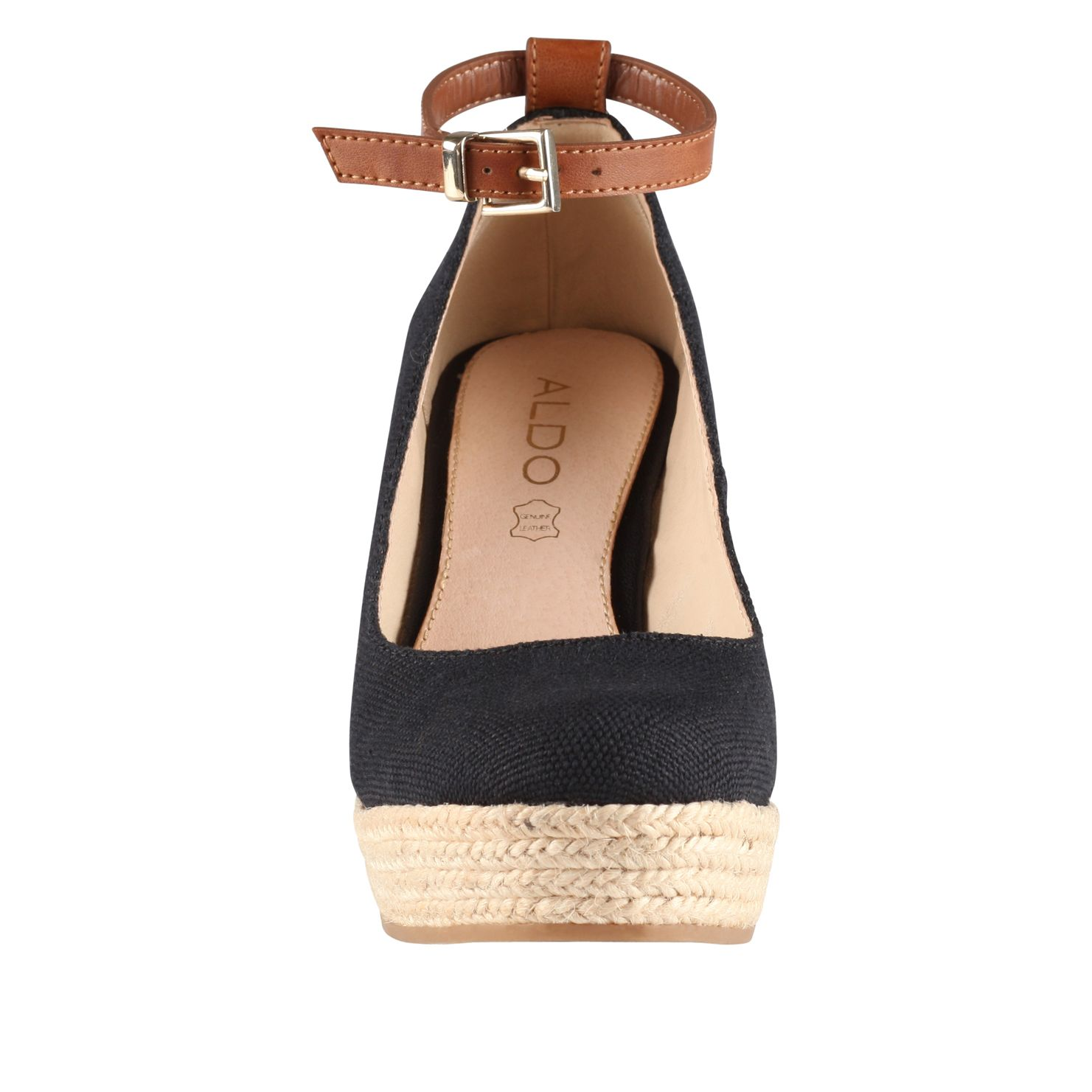 Grenama almond toe wedge espadrille court shoes
