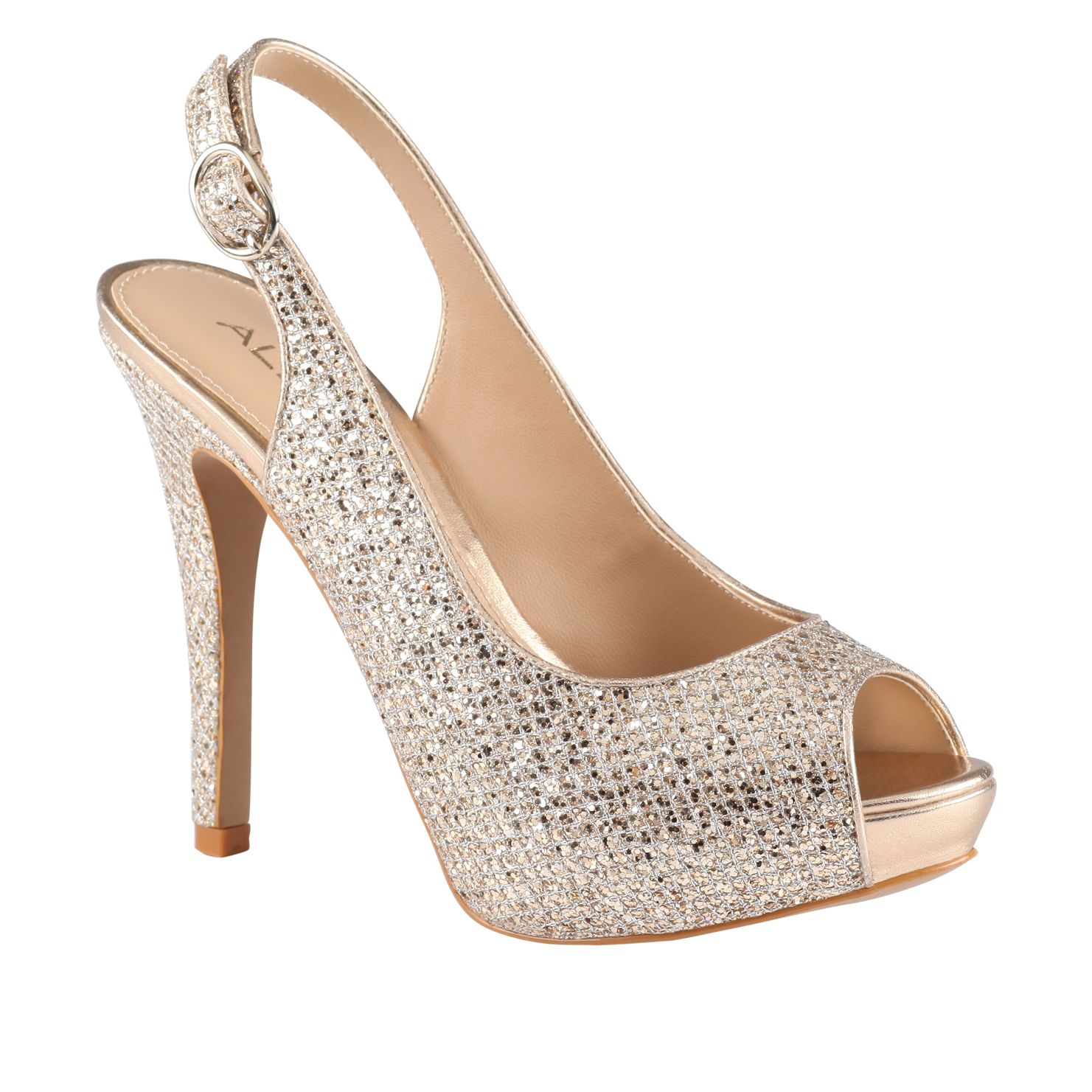Britany peep toe high heel court shoes