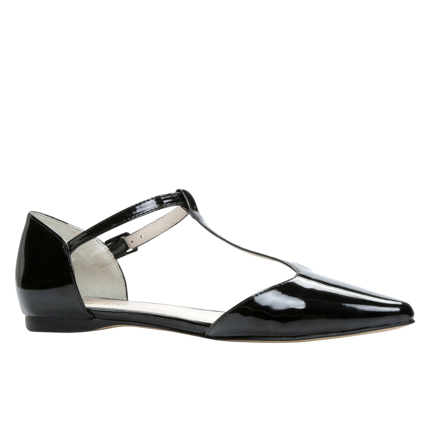 Lythgoe pointed toe t-bar pump shoes