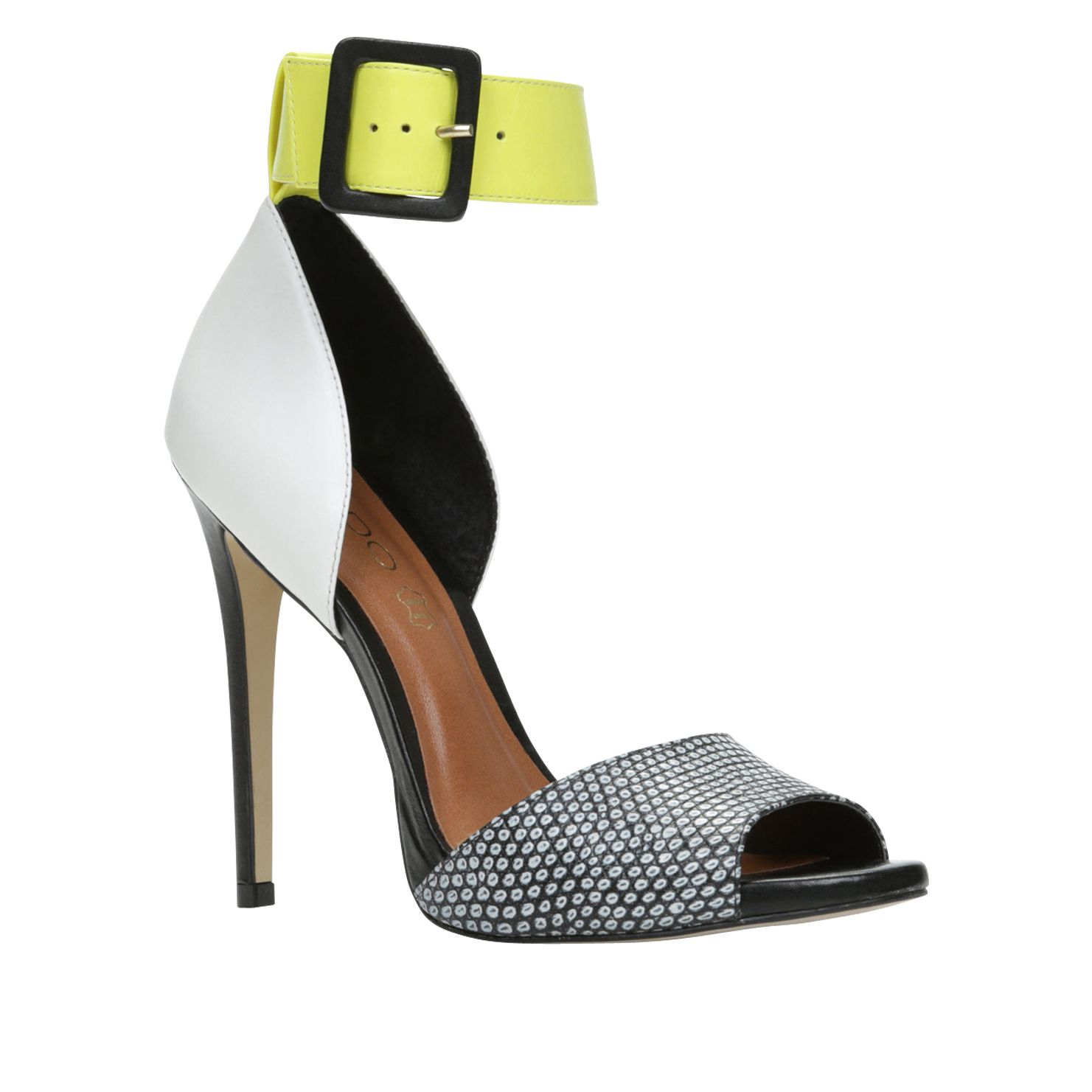 Areridda peep toe ankle strap court sandals