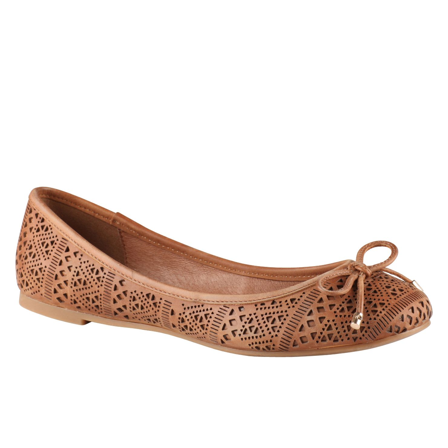Qaolia laser cut ballerina shoes