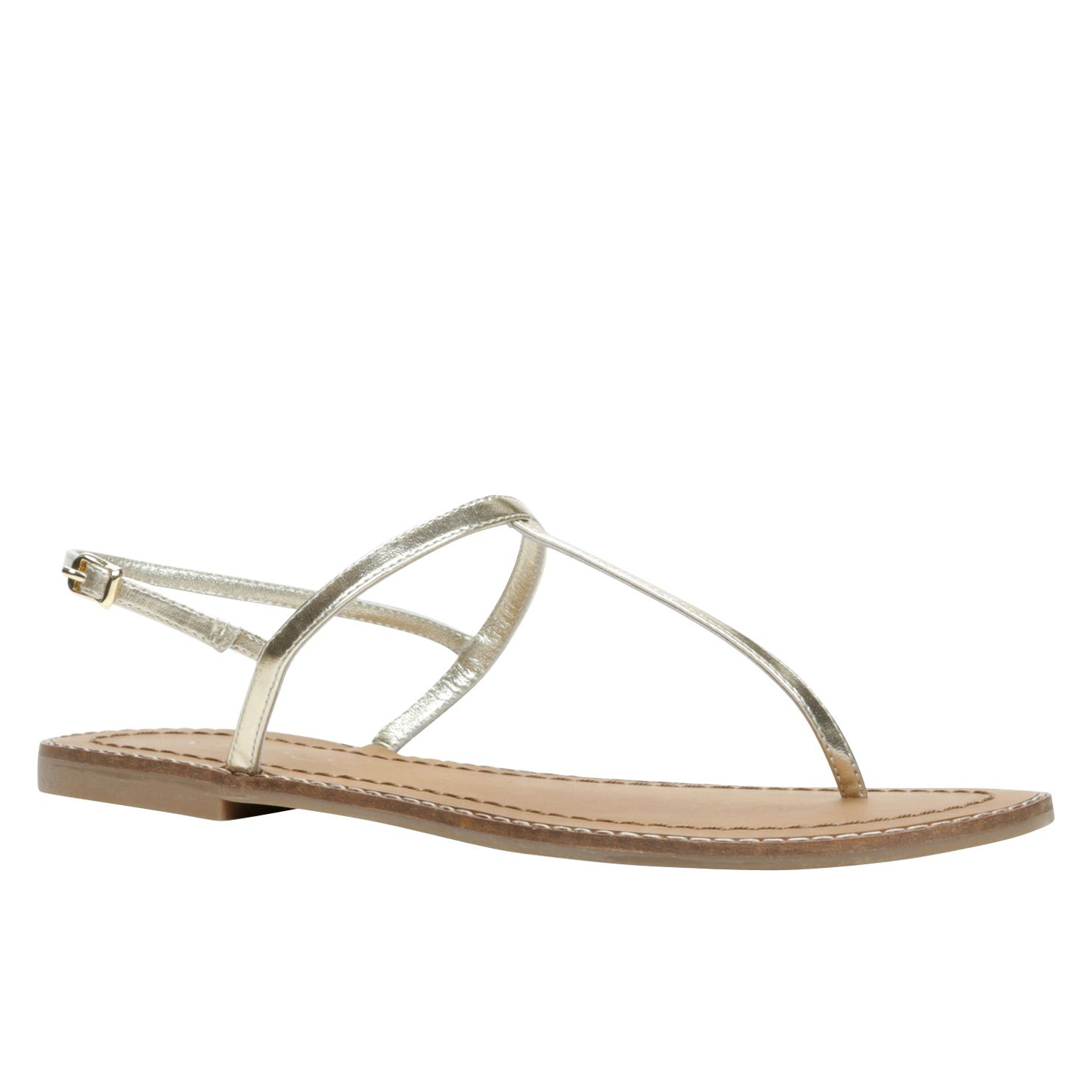 Garbagnate  flat t-bar sandals