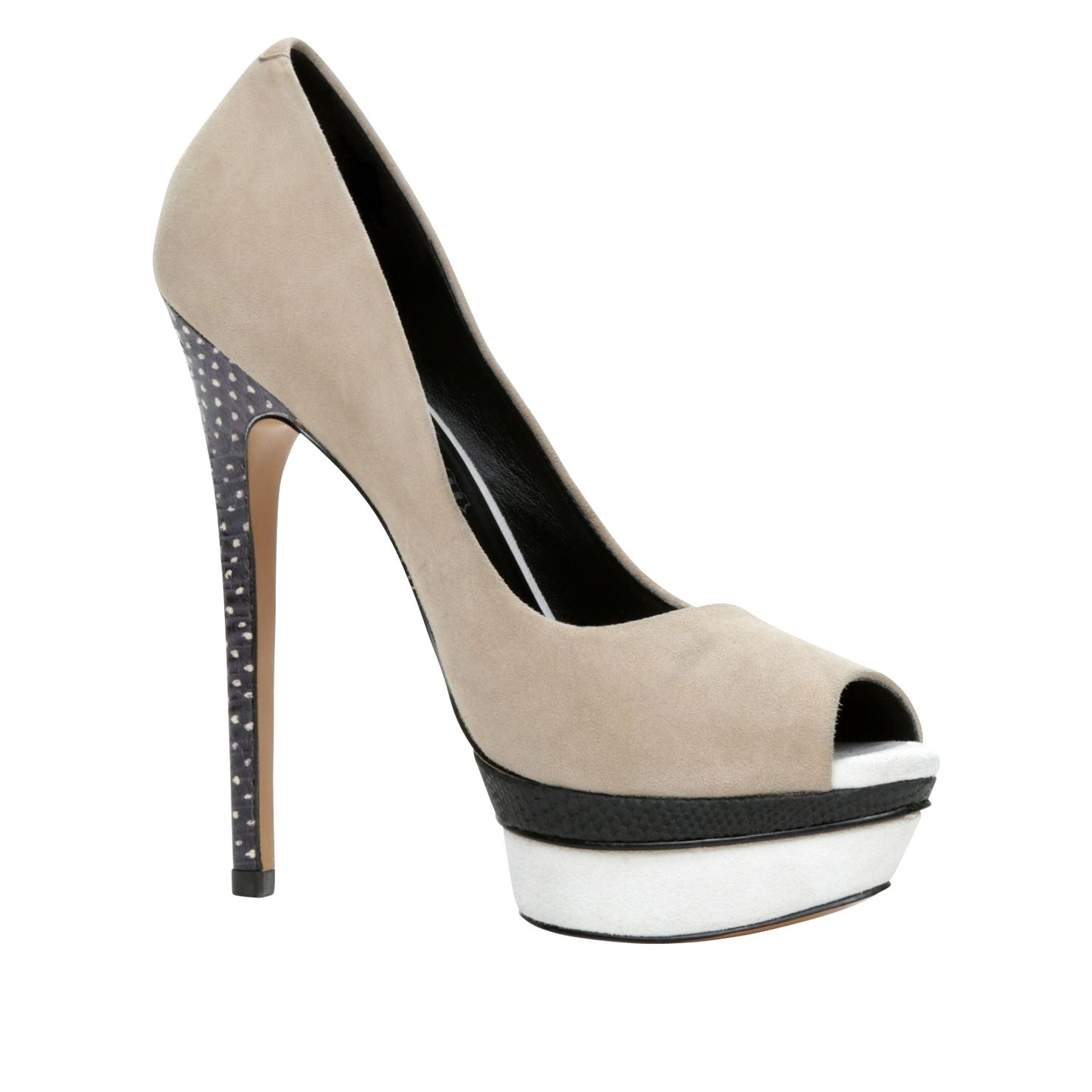 Nydeicia platform peep toe court shoes