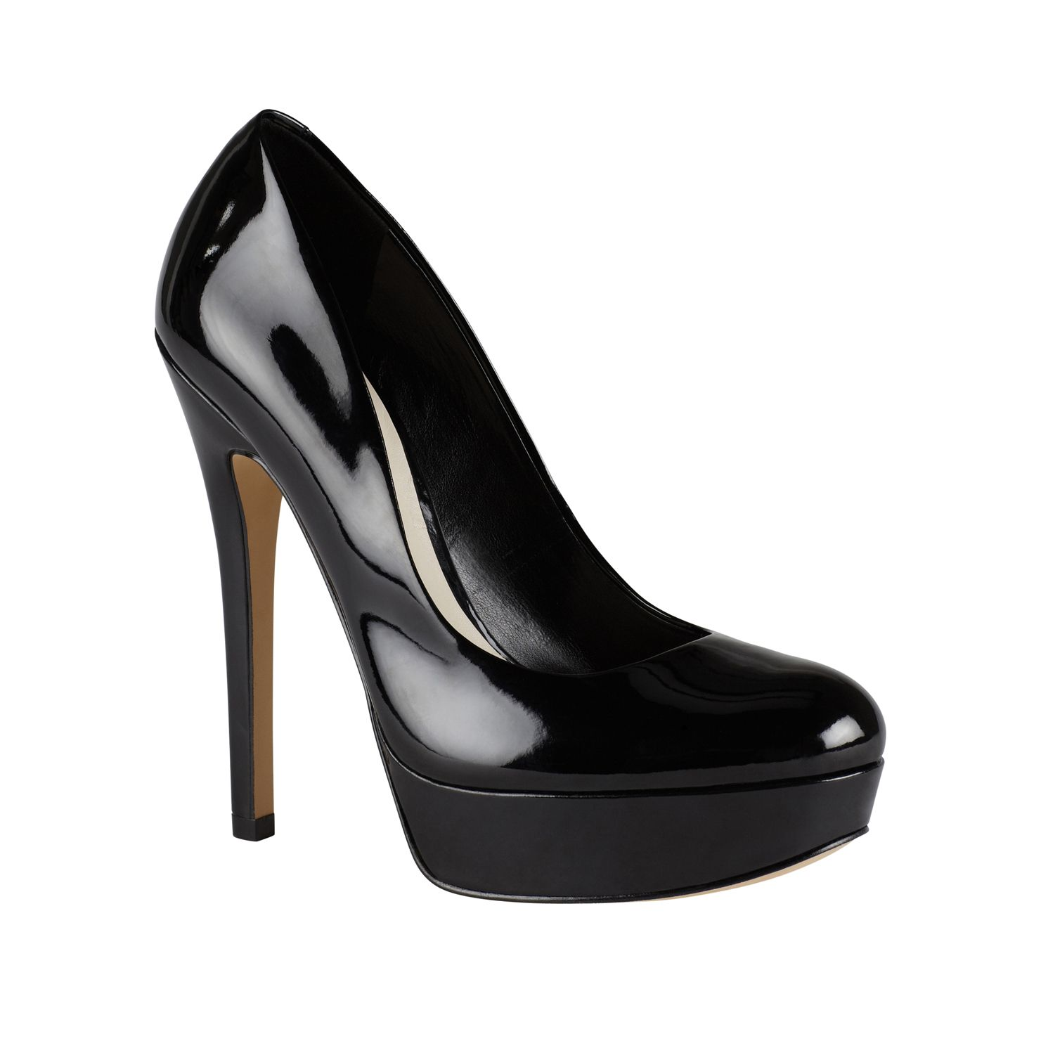 Crixia almond toe platform court shoes