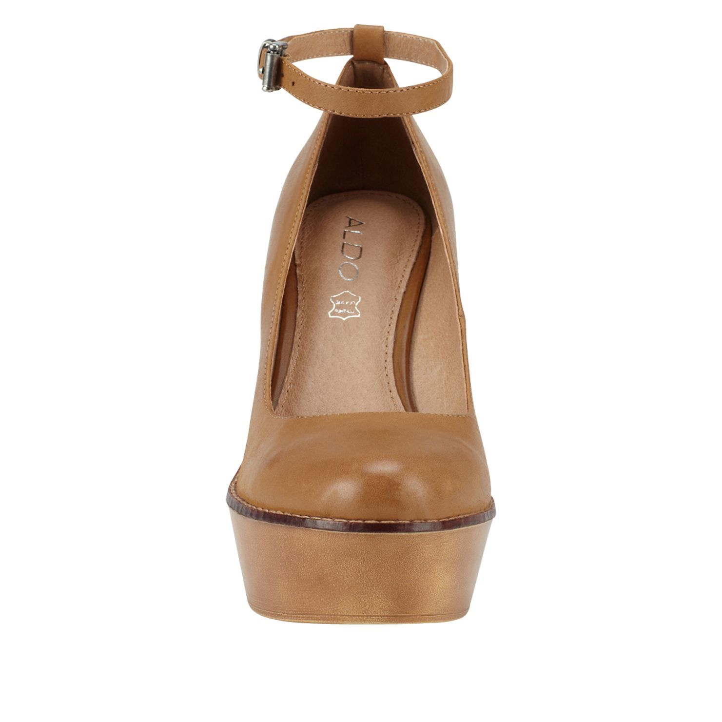 Grendahl round toe wedge shoes