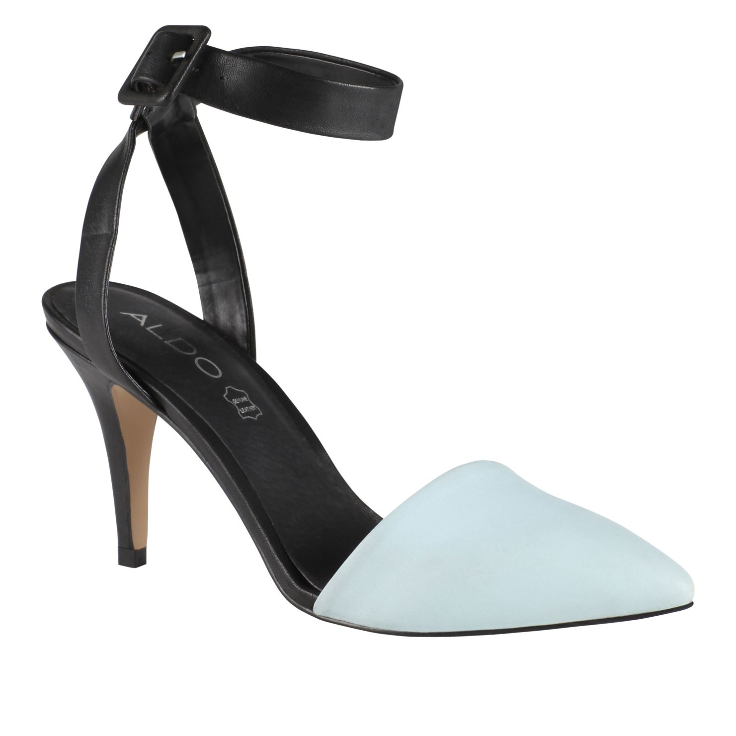 Canapile pointed ankle strap court shoes