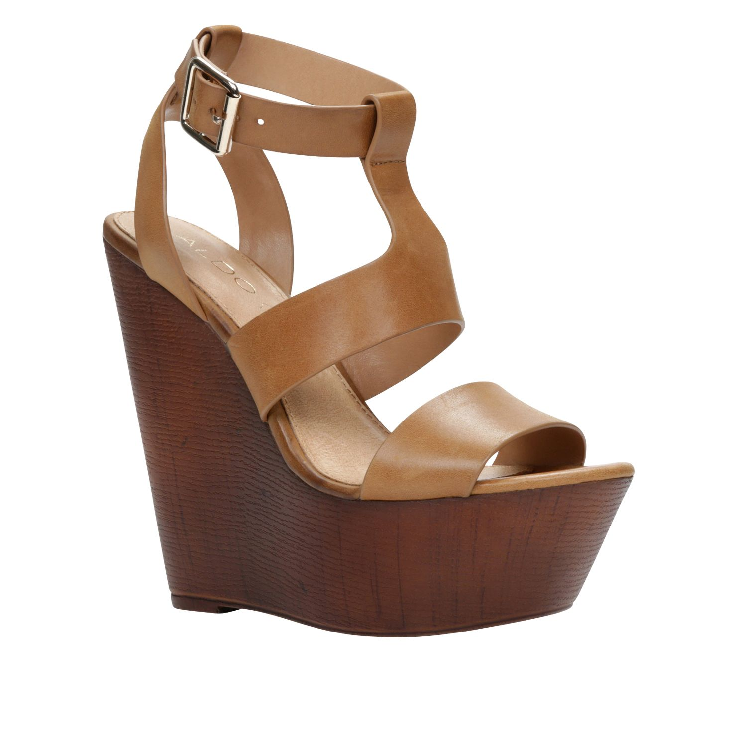 Ybaung wedge strappy sandals