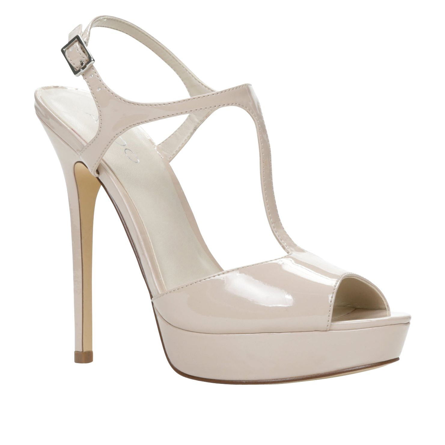 Kohlenberg peep toe platform shoes
