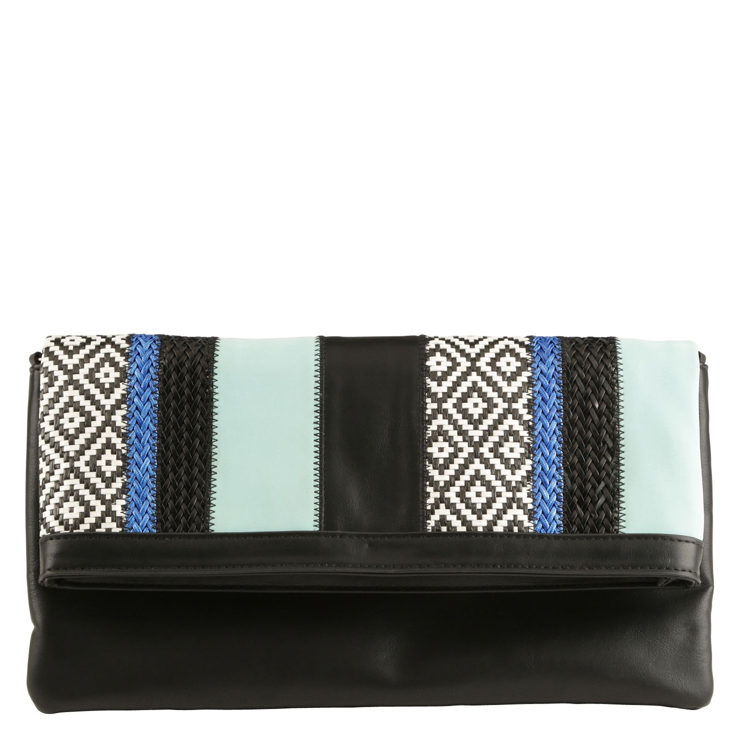 Somma multitone clutch bag