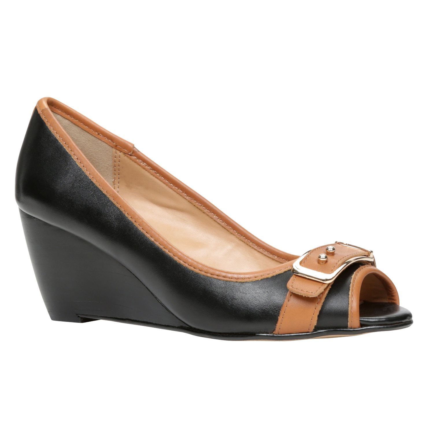 Rusco peep toe wedge shoes