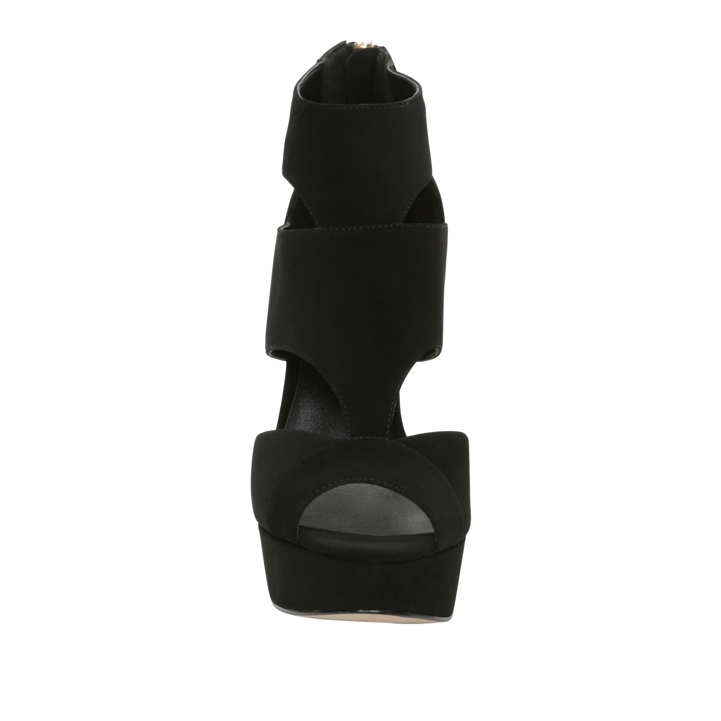 Gamagna peep toe court shoes