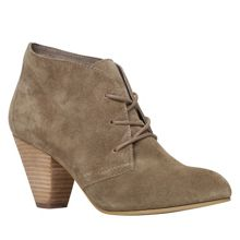 Ceilla block heel lace up ankle boots