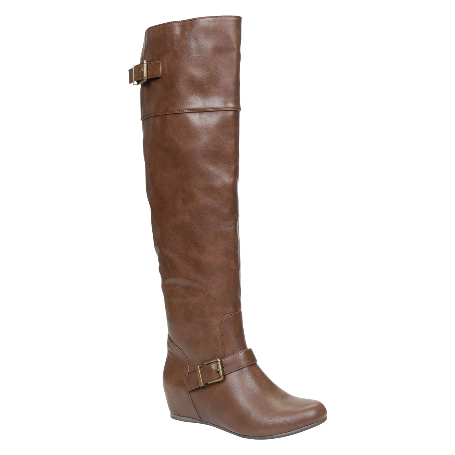 Tasha knee high wedge boots