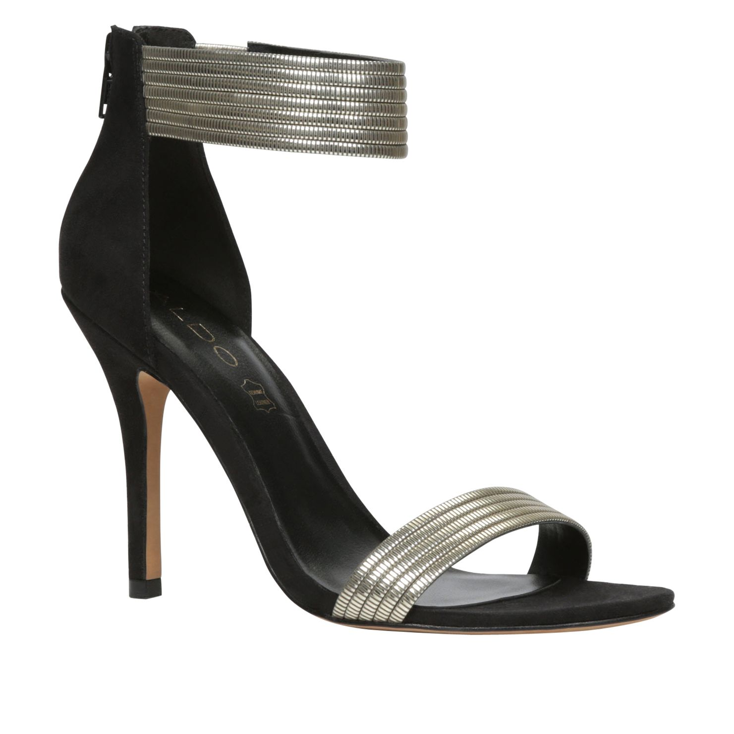 Ladle ankle strap court shoes