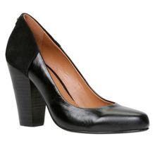 Lauralee block heel court shoes