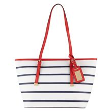 Hatchet tote with buckle detail