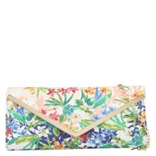 Cruther tropical print clutch bag