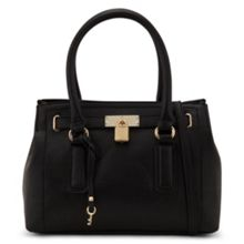 Nessmith lock detail structured tote