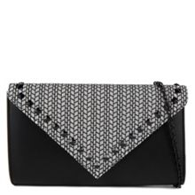 Colosimi oversized metal detail tribal clutch
