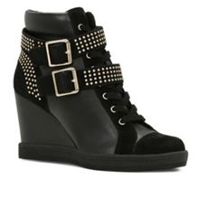 Verratti studded sneaker wedges