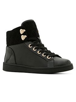 Aldo Elza high top quilted lace-up trainers