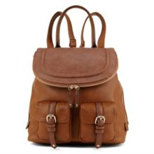 Botton buckle and stud detail backpack
