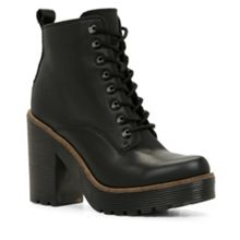 Latte lace up ankle boot