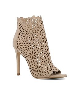 Ralidien perforated high heel shoe boots