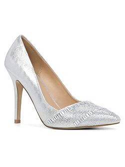 Cavazzana metallic stiletto pumps