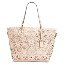 Aldo Montemesola Laser Cut Leather Tote