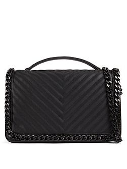 Greenwald Quilted Chain Handbag