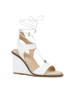 Terisa lace up wedge sandals