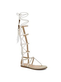 Capro high lace up gladiator sandals