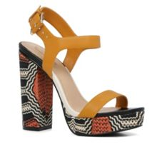 Aldo Joann stacked heels tribal sandals