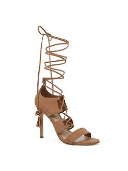 Marys lace up stiletto sandals