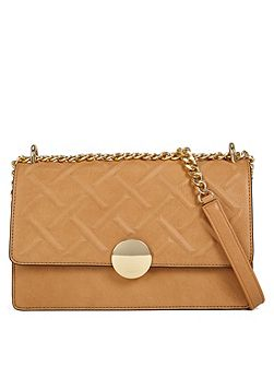 Pygmy embossed chain cross body handbag