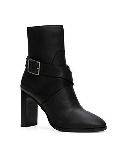 Coinia stacked heel ankle boots