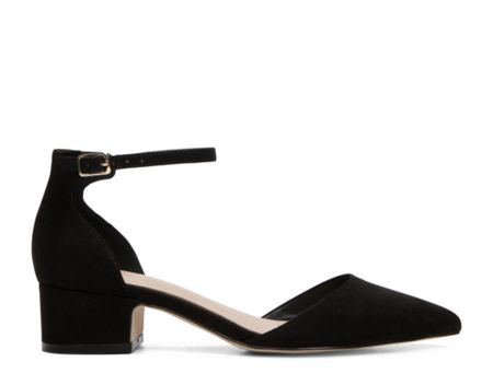 Aldo Zusien ankle strap low heel court shoes