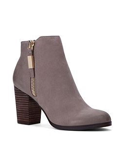 Mathia stacked heel ankle boots