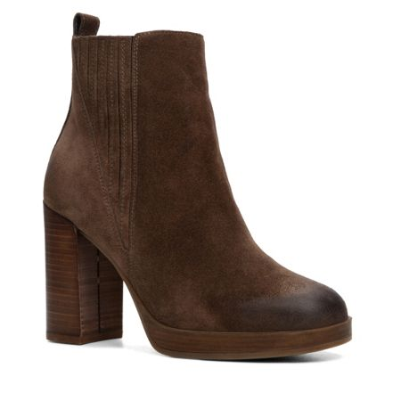 Aldo Athabaska stacked heel ankle boots