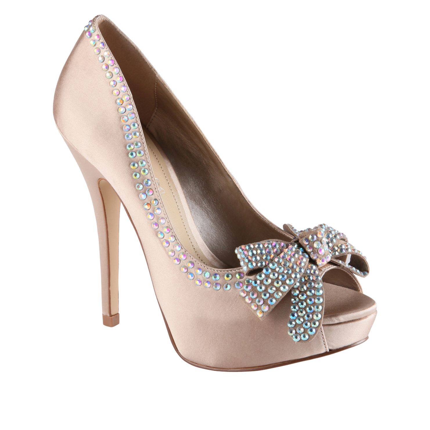 Naftel Peep Toe Court Shoes