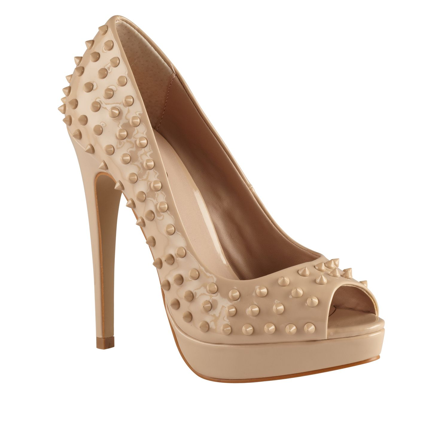 Petrona Peep Toe Studded Court Shoes