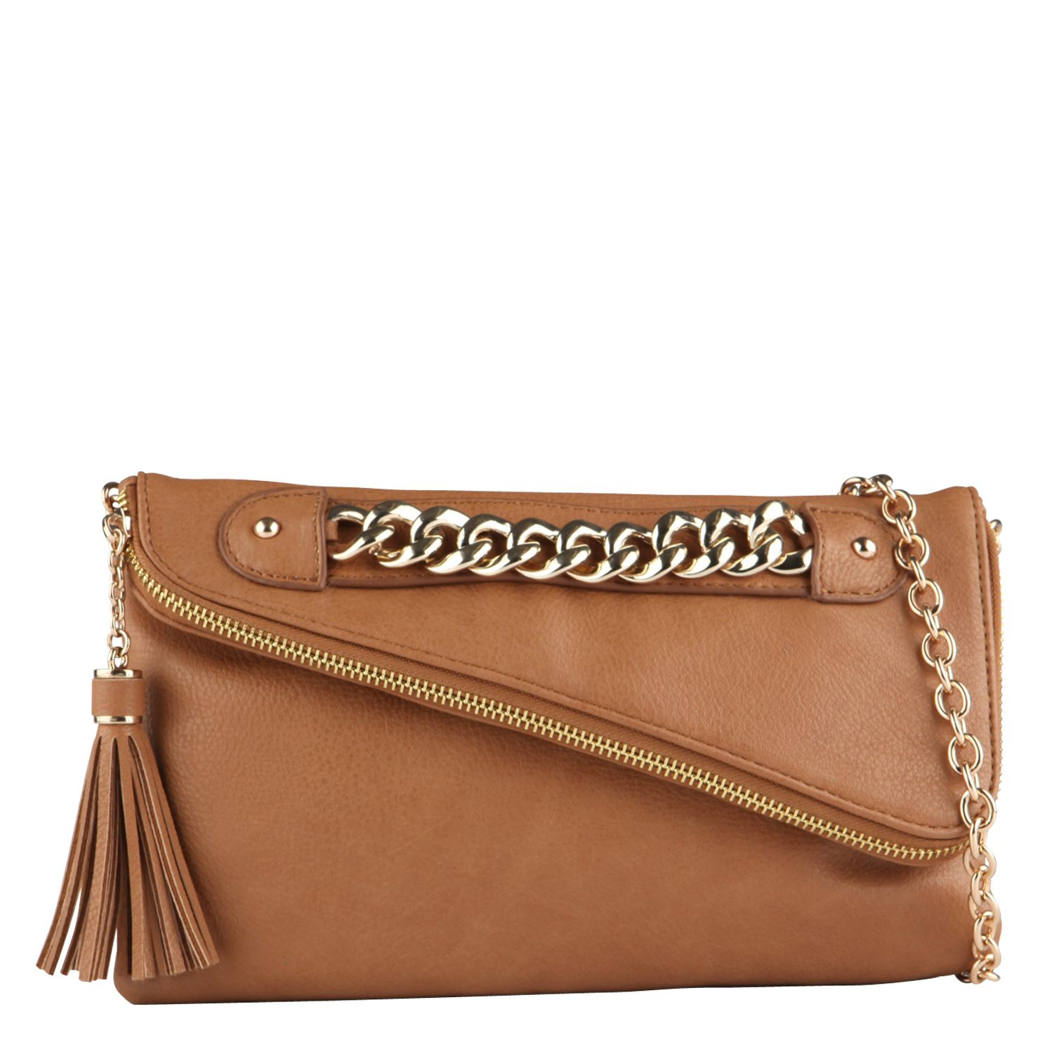 Wagoner assymetrical clutch bag