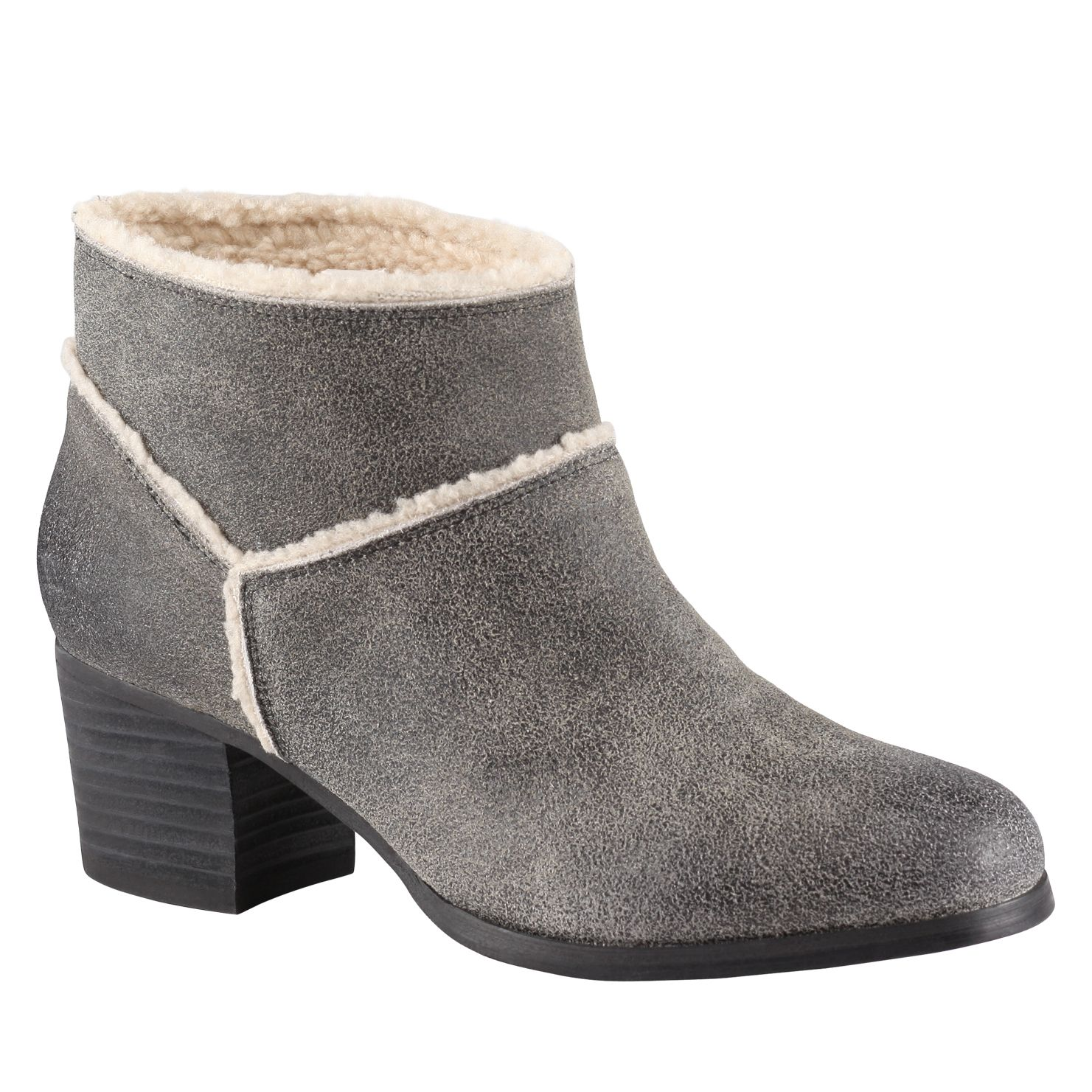 Cradic alomond toe block heel boots
