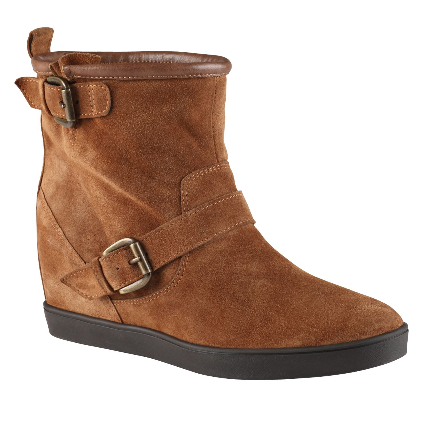 Jorjanna round toe wedge boots