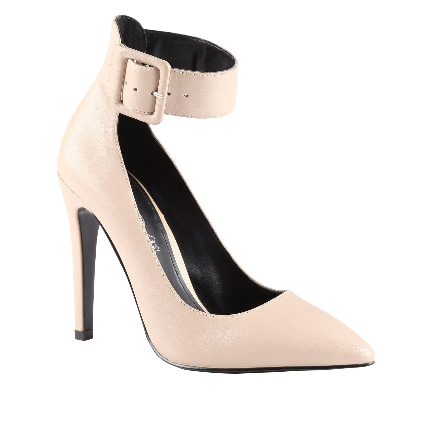 Kessie pointed toe stilleto court shoes